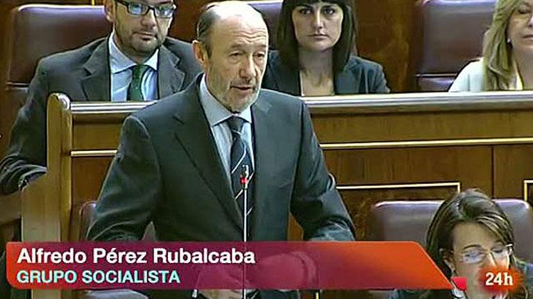 """Rubalcaba a Rajoy: """"Deje que comparezcan gestores y supervisores para saber qué pasó en Bankia"""""""