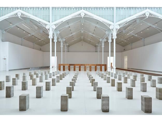 Carl Andre 1958-2010, Vista de la exposición en el Palacio de Velázquez