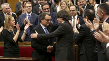 Ir al VideoCarles Puigdemont, investido presidente de la Generalitat