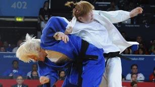 Carmen Herrera, oro en judo