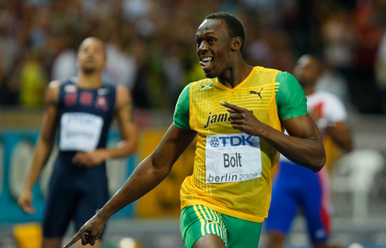 La carrera del récord de Bolt