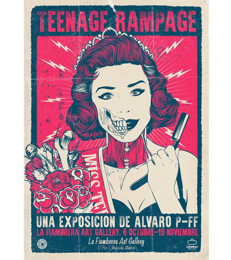 Cartel de la exposición 'Teenage Rampage'