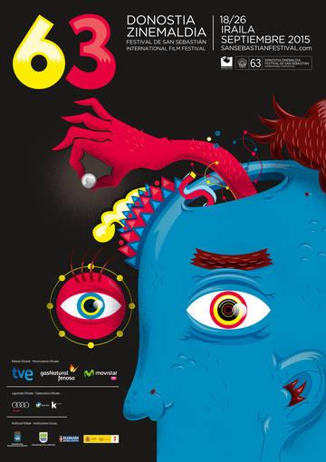 Cartel oficial de la 63 edición del Festival de cine de San Sebastián.