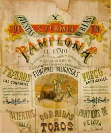 Cartel Sanfermines de 1882