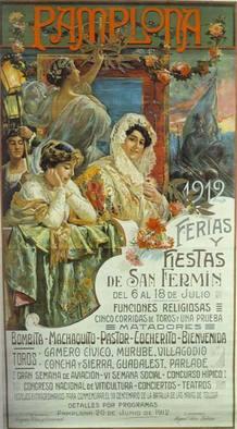Cartel Sanfermines de 1912