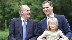 La Casa Real renueva su página web con la foto del rey, el príncipe y la infanta Leonor
