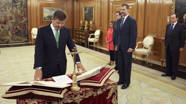 Catalá anuncia que modificará las tasas judiciales tras tomar posesión como nuevo ministro