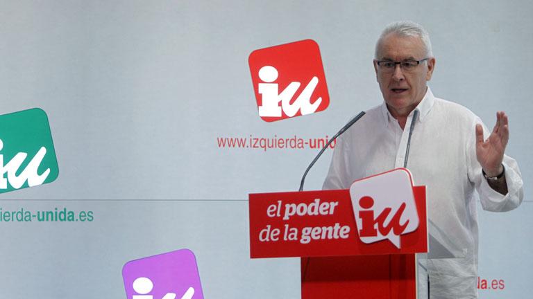 Cayo Lara habla sobre las tarjetas opacas de Caja Madrid