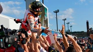 Cervera celebra el inesperado Mundial logrado por Márquez