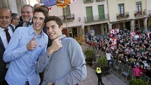 Cervera se vuelva con los hermanos Márquez