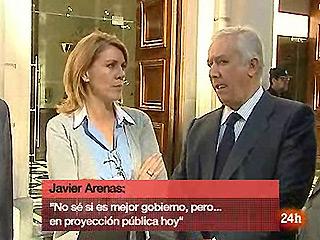 Una cámara captó la conversación entre Cospedal y Arenas sobre la remodelación del Gobierno