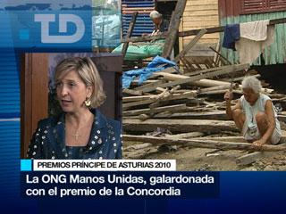Hablamos con Myriam García Abrisqueta, presidenta de Manos Unidas