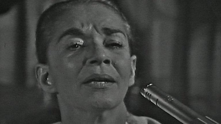 """Chavela Vargas presentó su último disco """"Luna Grande"""" un homenaje a Lorca"""