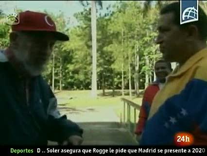 Un nuevo vídeo de Hugo Chávez con Fidel Castro acalla los rumores sobre su delicada salud