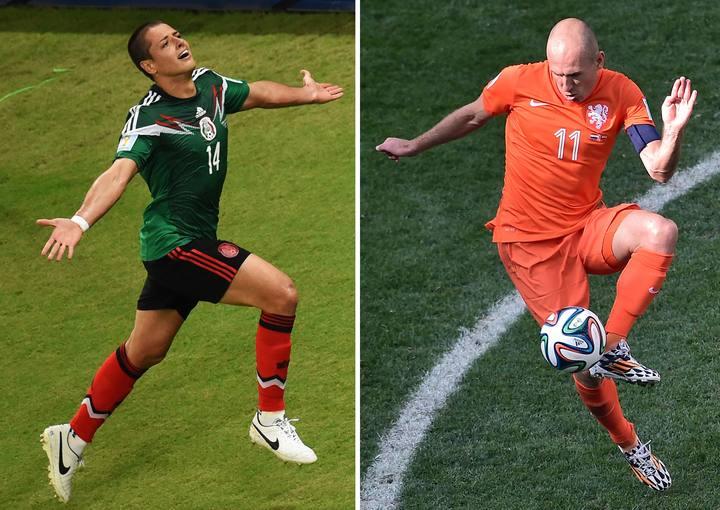 'Chicharrito' Hernández y Robben se verán las caras en el duelo de octavos.