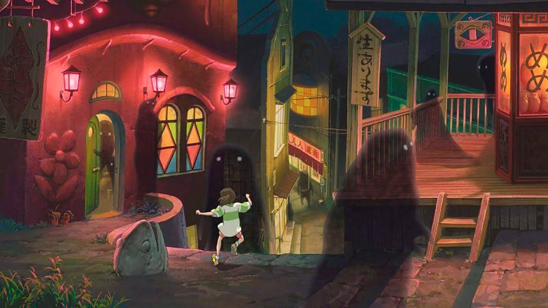 Chihiro en la aldea encantada
