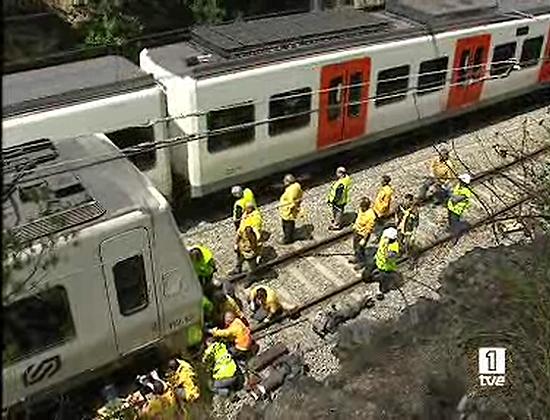 Chocan dos trenes de la generalitat entre barcelona y sant - Temperatura actual en sant cugat del valles ...