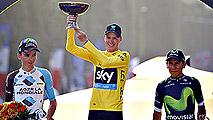 Chris Froome ensalza desde el podio al Tour y a Francia