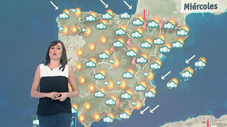 Chubascos en los Pirineos y subida de temperaturas