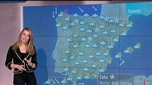 Cielo cubierto en toda España y temperaturas con pocos cambios