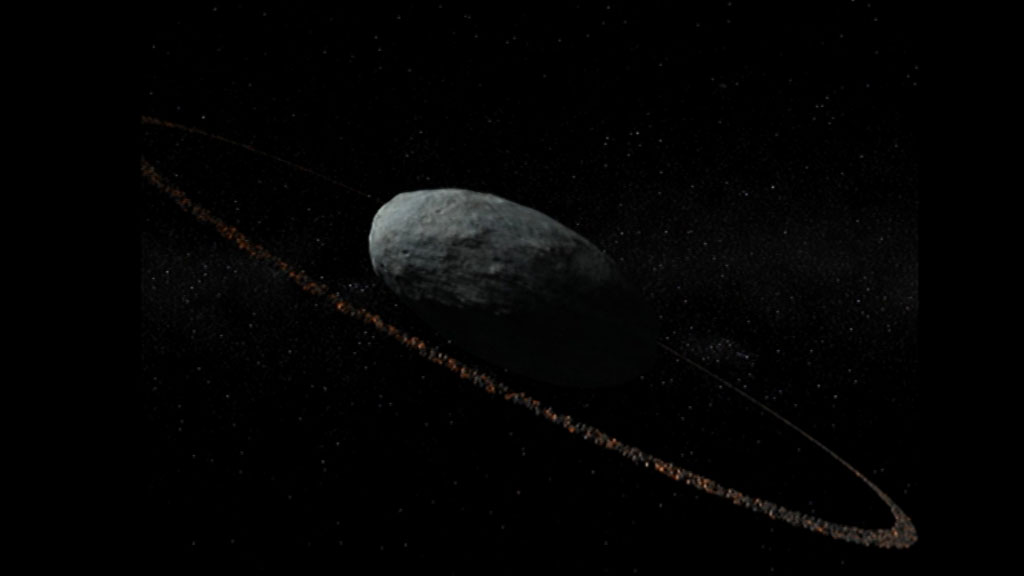 Científicos españoles descubren un anillo alrededor de un planeta enano