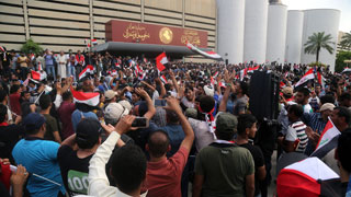 Cientos de chiíes entran en Zona Verde de Bagdad y exigen un gobierno tecnócrata