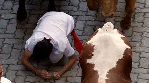 Cinco contusionados en el séptimo encierro de San Fermín