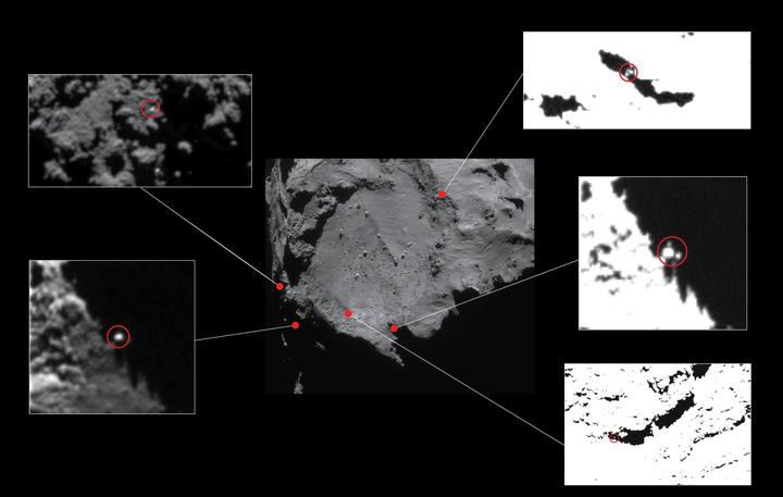 La ESA baraja cinco localizaciones en el cometa 67P en las que puede estar la sonda Philae