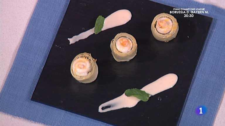 Cocina con sergio alcachofas rellenas de lenguado - Cocina con sergio pepa ...