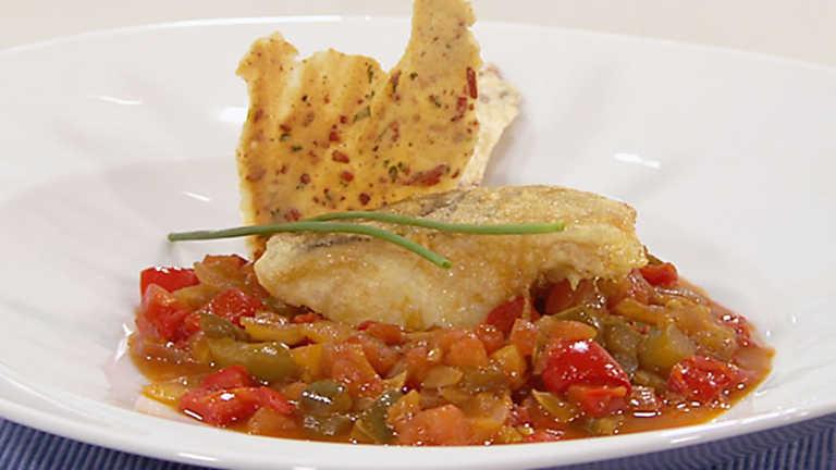 Cocina con sergio bacalao al chilindr n con crujiente de for Cocina con sergio bizcocho