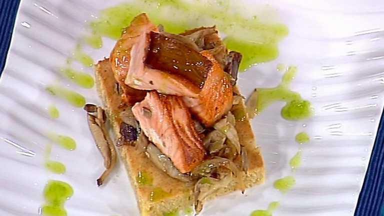 receta de dados de salm n con bizcocho salado de pl tano