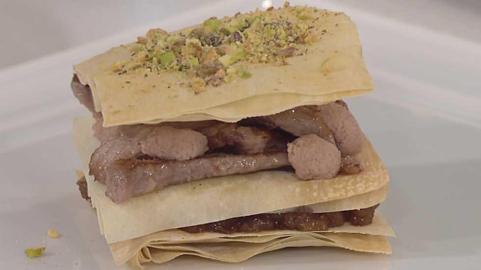 Cocina con sergio milhoja crujiente con crema de manzana for Cocina con sergio bizcocho