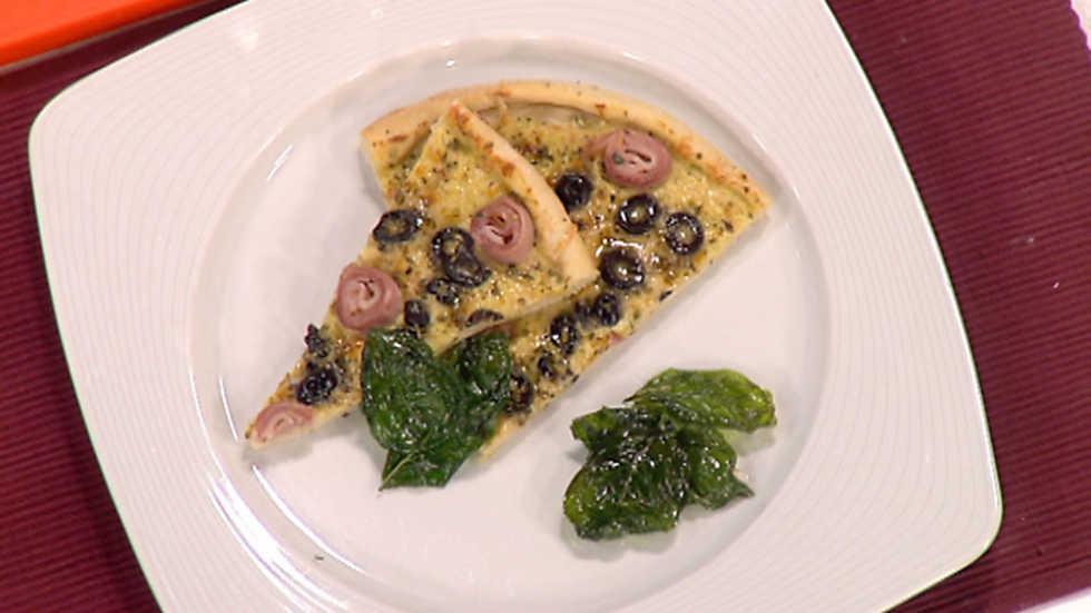 Cocina con sergio pizza a la crema de puerros parmesano for La cocina de sergio