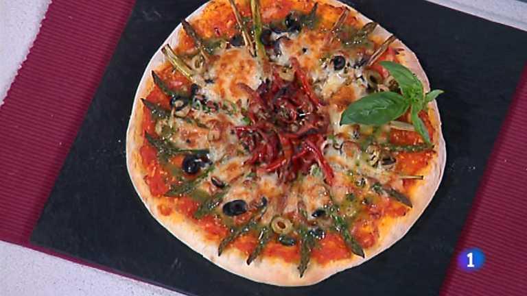 Pizza de primavera - Cocina con sergio pepa ...