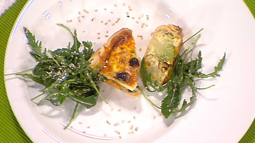 Cocina con sergio tarta de romanesco a los tres quesos - Cocina con sergio pepa ...