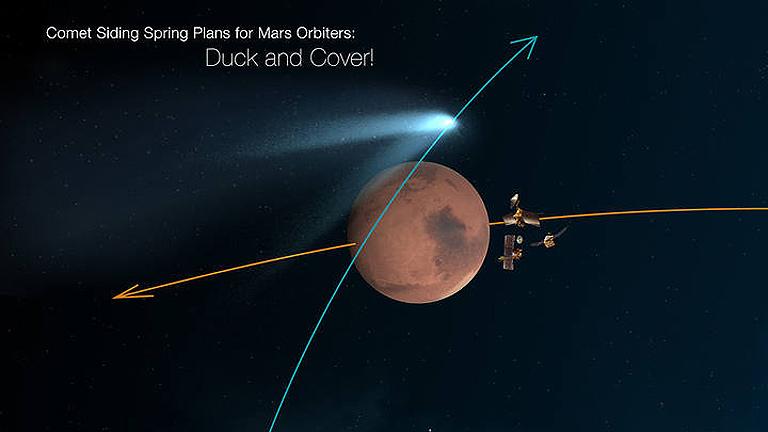 Un cometa 'roza' Marte en una oportunidad incalculable para el estudio de estos cuerpos celestes