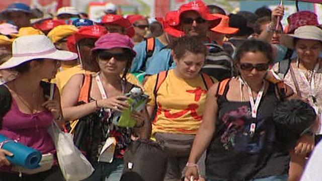 Los peregrinos inician su regreso a casa