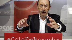 Comparecencia íntegra de Alfredo Pérez Rubalcaba tras el Comité Federal del PSOE
