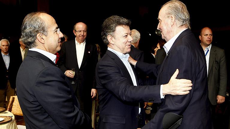 El Rey Juan Carlos culmina su viaje con los presidentes de la Alianza del Pacífico