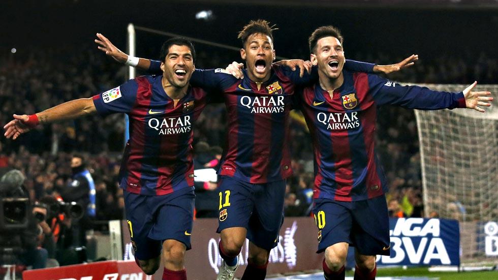 La conexión Messi-Neymar-Suárez tardó en arrancar pero triunfó