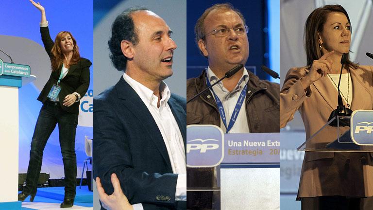 El PP ratifica a sus líderes en CLM, Cantabria, Extremadura y Cataluña