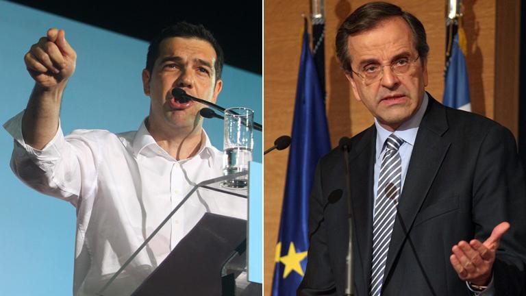 Conservadores e izquierdistas, igualados en intención de voto en Grecia