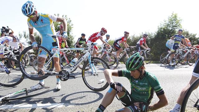 Contador empieza el Tour con mal pie
