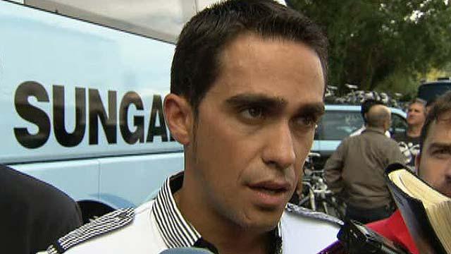 Contador visita la Vuelta 2011