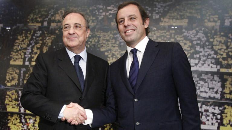 Cordialidad entre Florentino y Rosell