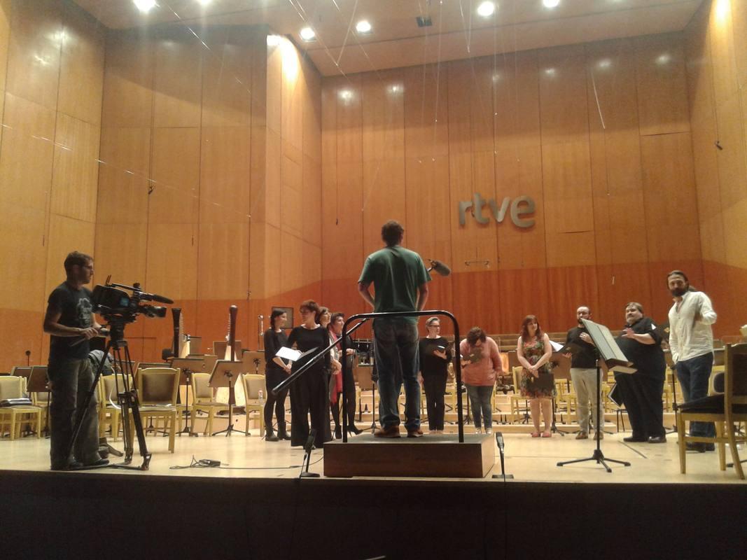 El coro de RTVE participa en la elaboración de 'la mitad invisible' dedicada al compositor Tomás Luis de Victoria