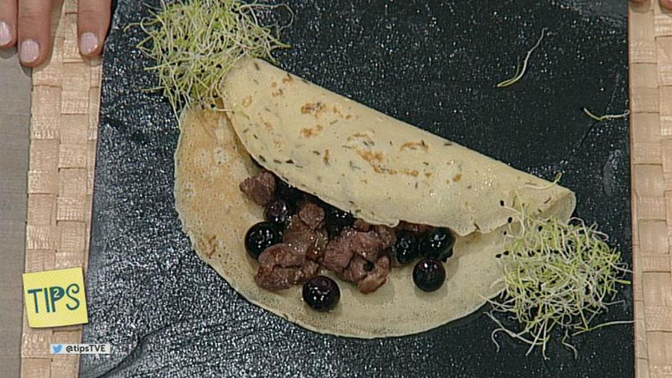 TIPS - Cocina - Crepes rellenas de pato y arándanos