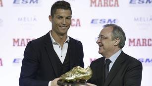 Cristiano recibe su tercera Bota de Oro