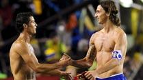Ir al VideoCristiano Ronaldo e Ibrahimovic, cara a cara