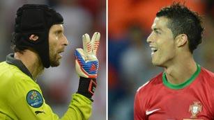 Cristiano Ronaldo, a perforar el muro Cech